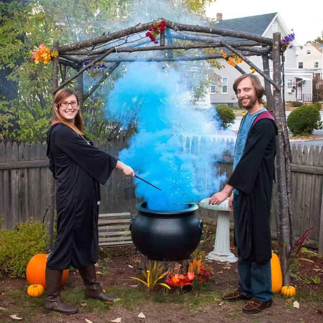 Halloween gender reveal party