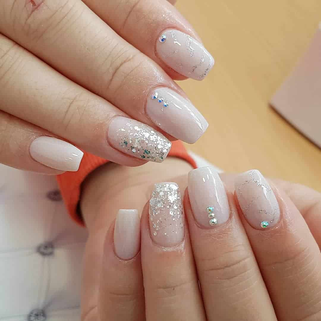 Gender reveal party nails ideas
