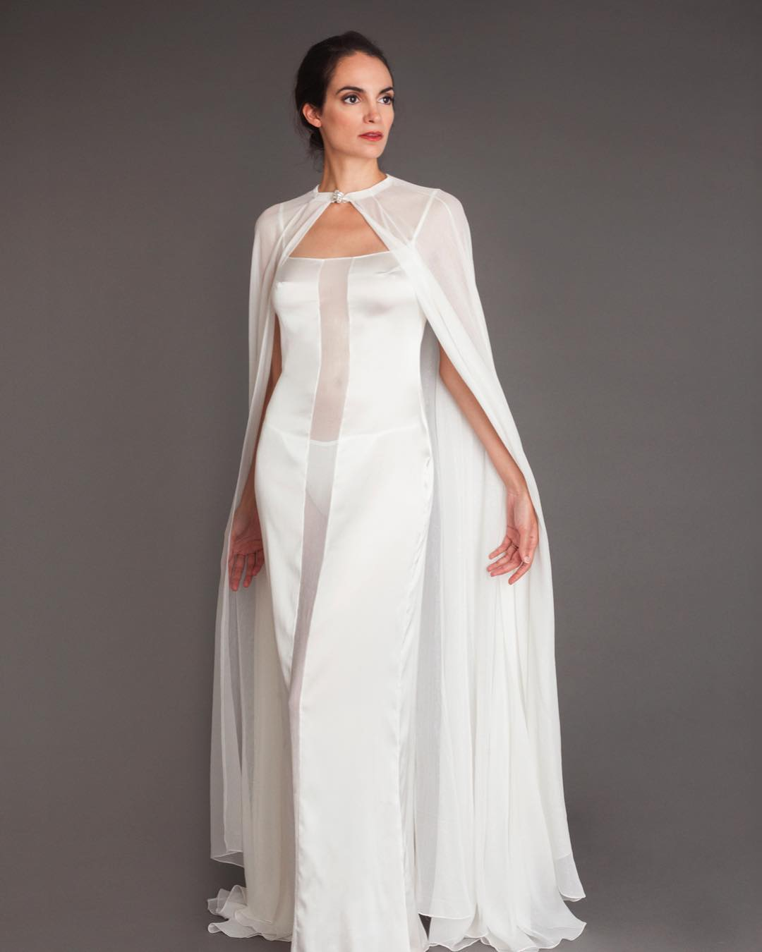 Wedding capes is a new 2020 bridal trend