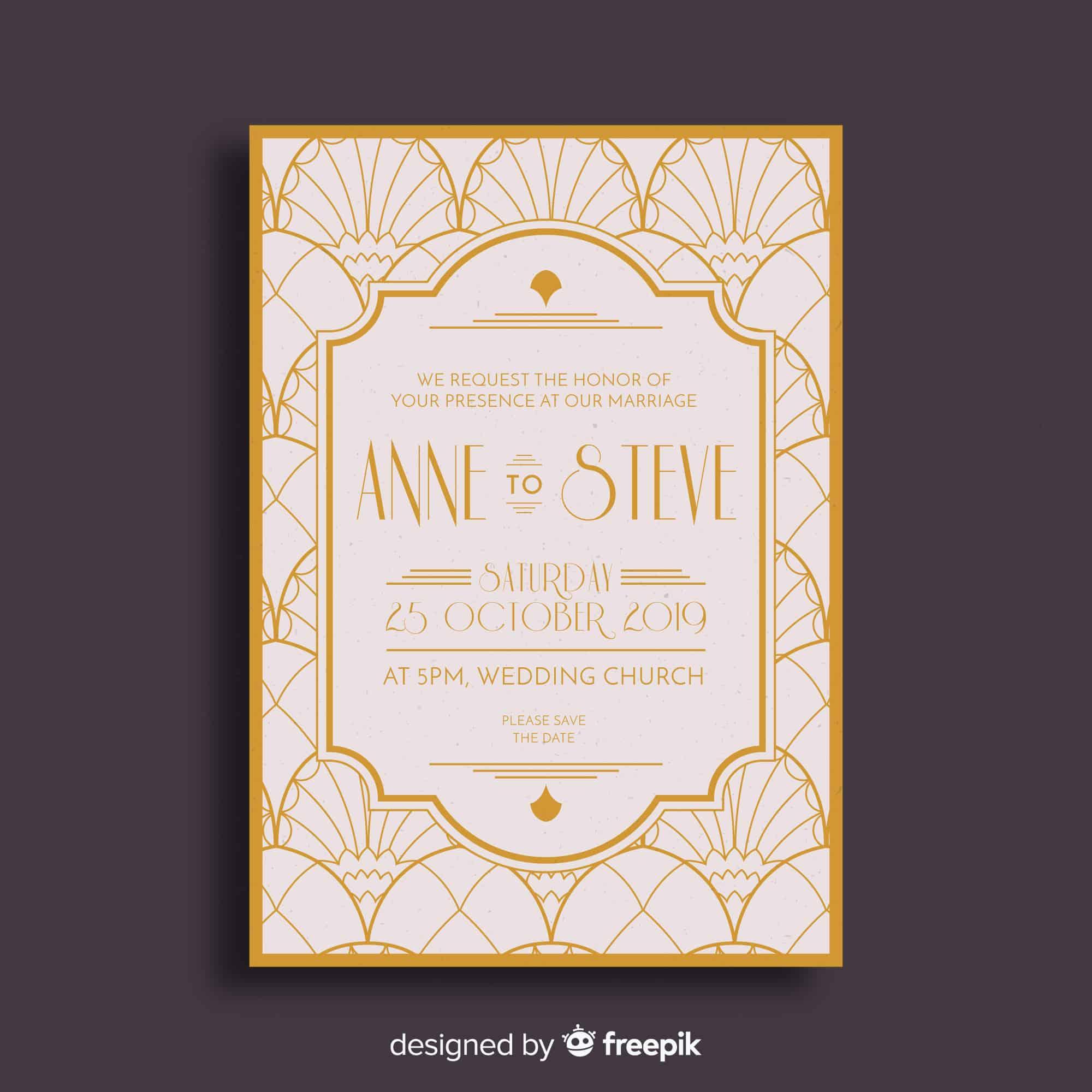 Noir - Wedding Invitation