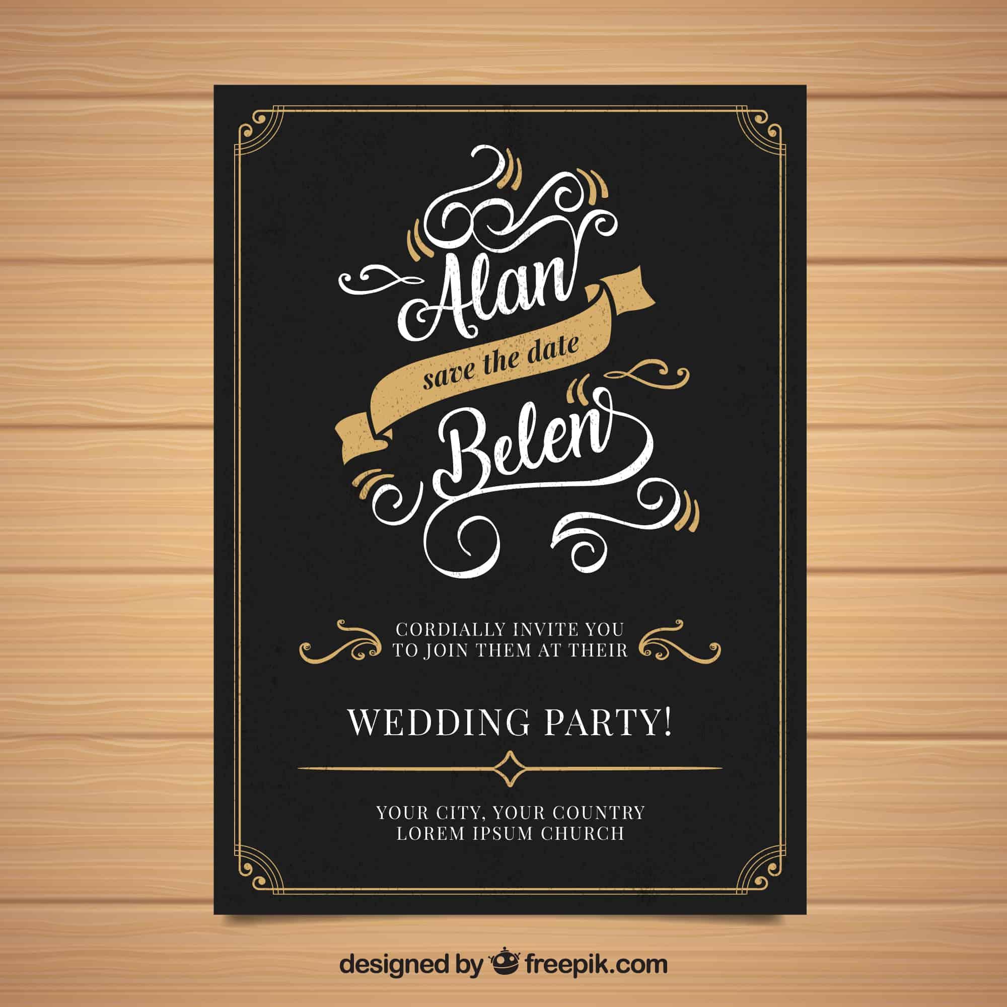 Hipster Wedding Invitation