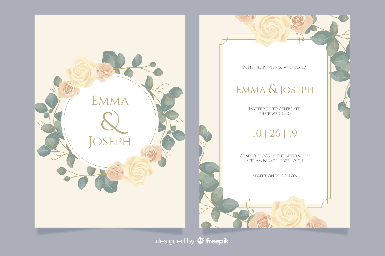 Beautiful Roses - Wedding Invitation