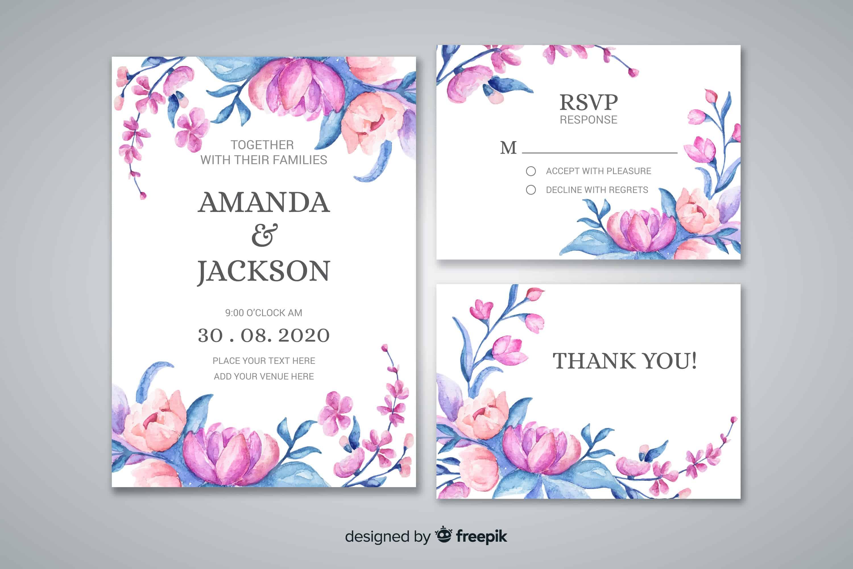 Watercolour Botanica - Wedding Invitation