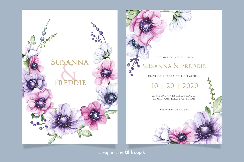 Marvellous Flowers - Wedding Invitation