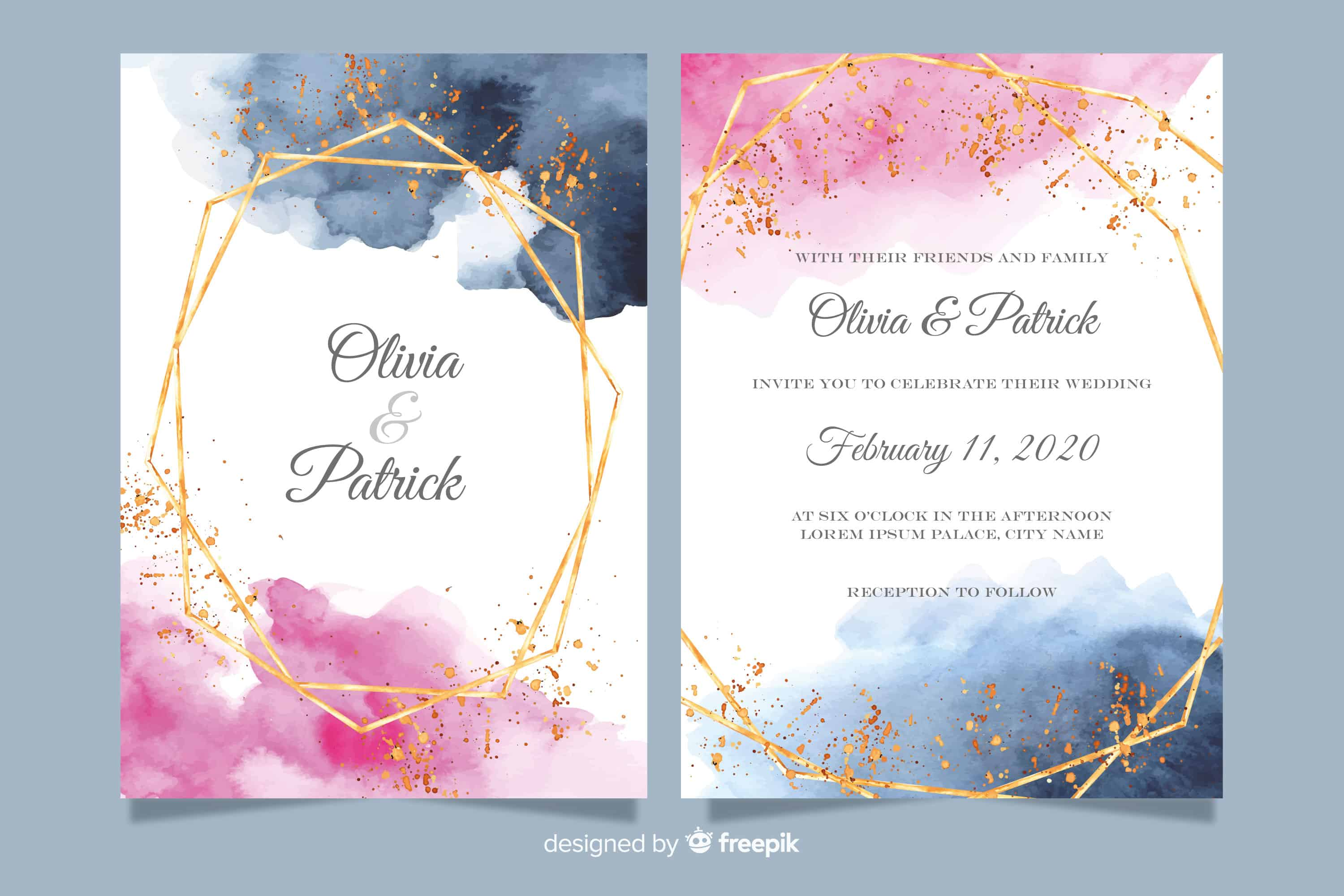 Watercolor - Wedding Invitation