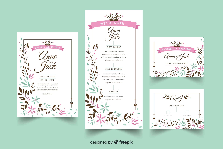 Cute Flora - Wedding Invitation