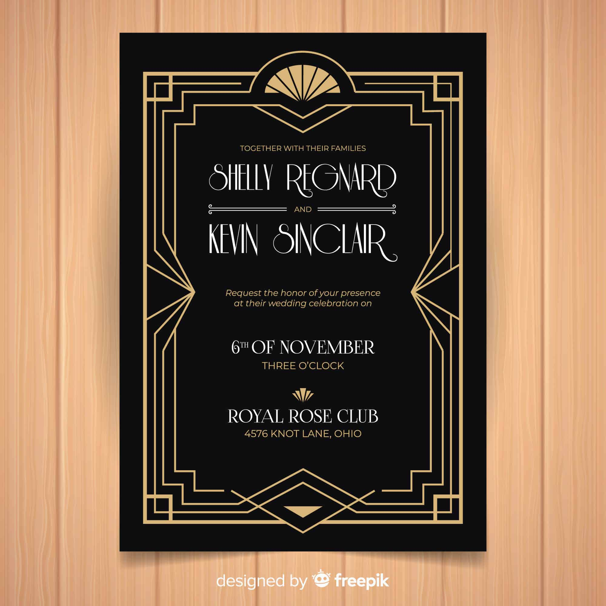 Art Deco - Wedding Invitation