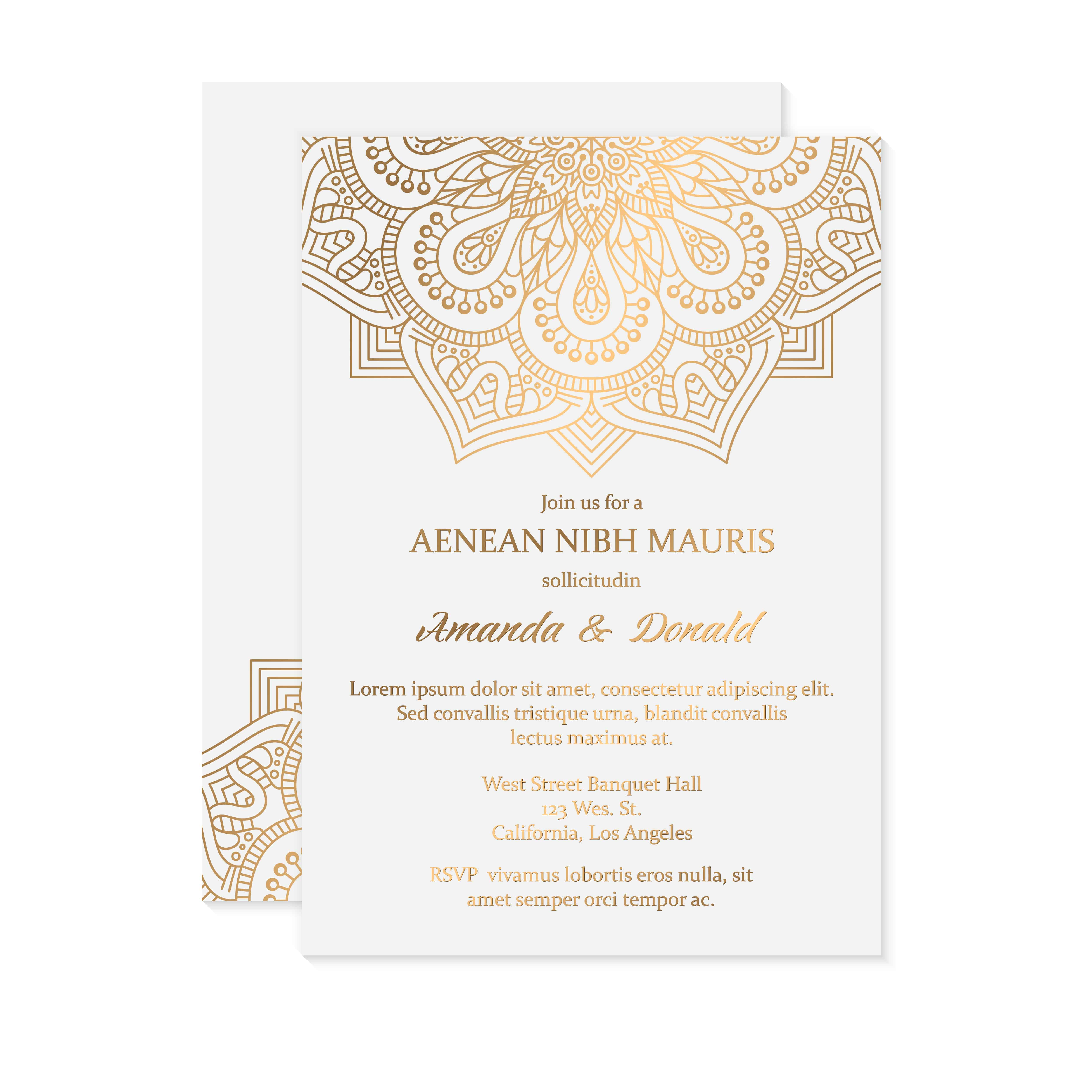 Mandala Gold - Wedding Invitation