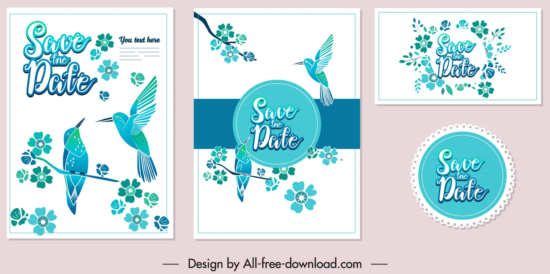 Blue Birds - Wedding Invitation