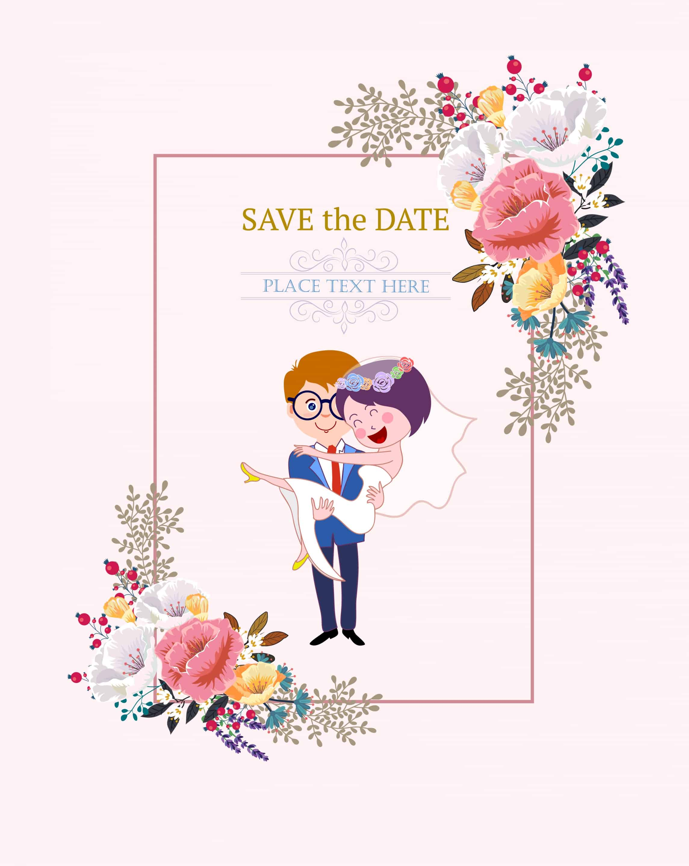Happy Couple - Wedding Invitation