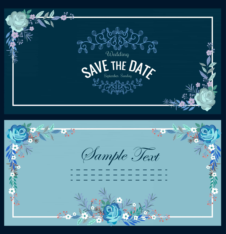 Flowers Frame  - Wedding Invitation