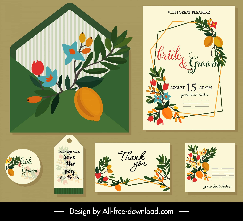 Colourful Leaves - Wedding Invitation