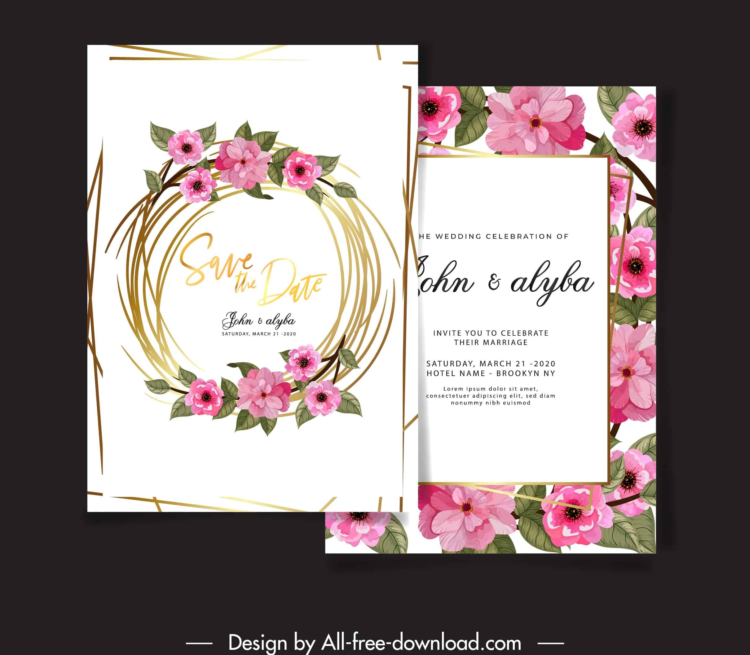 Blooming Wreath - Wedding Invitation