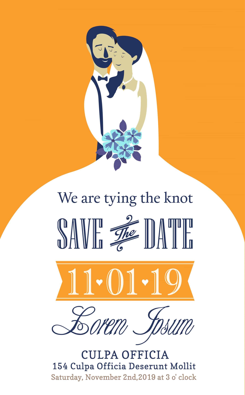 Bride and Groom - Wedding Invitation