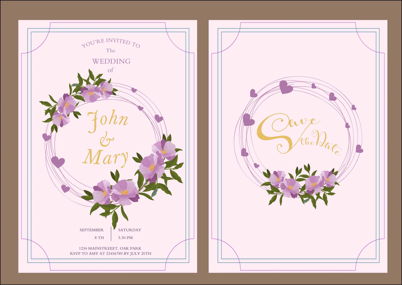 Violet Frame - Wedding Invitation