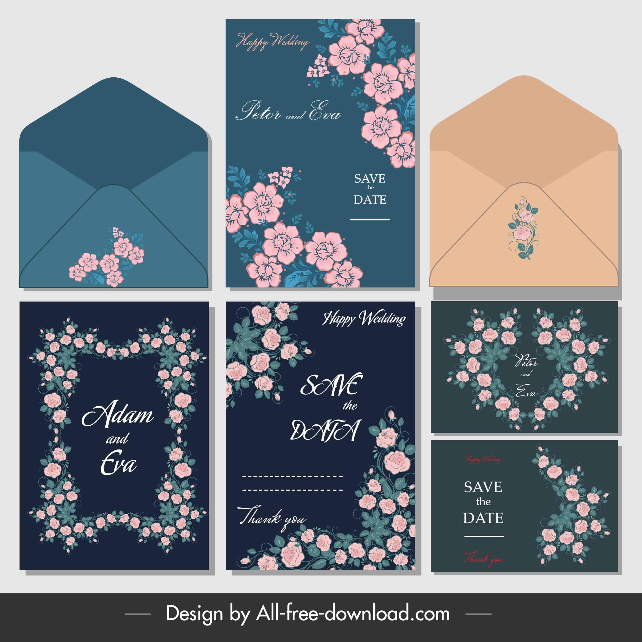 Classic Flowers - Wedding Invitation