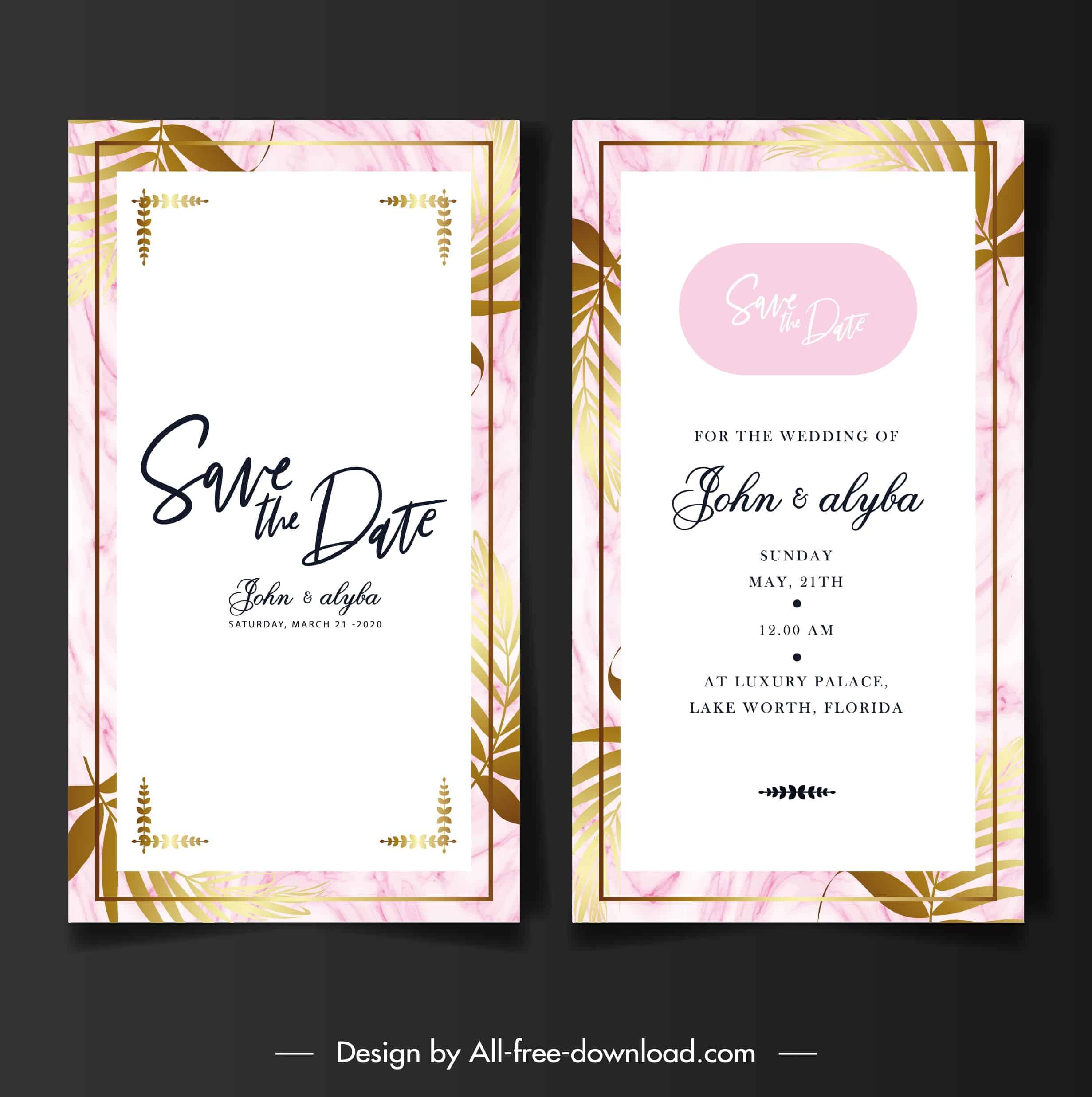 Golden Leaf  - Wedding Invitation