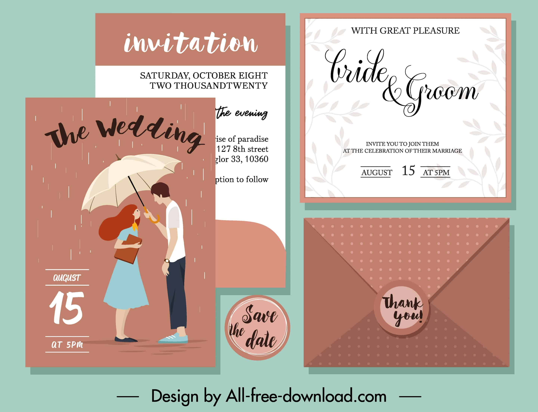 Rain - Wedding Invitation