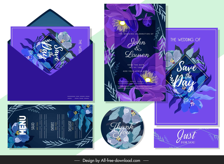 Midnight Flowers - Wedding Invitations