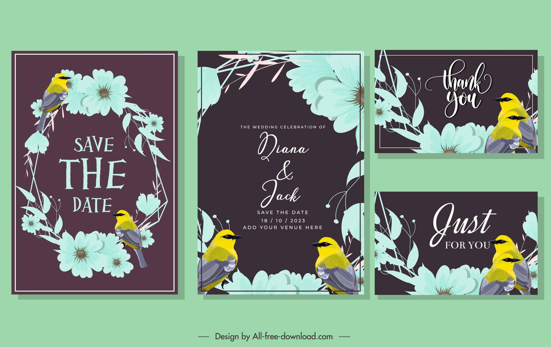 Dark Bird - Wedding Invitation