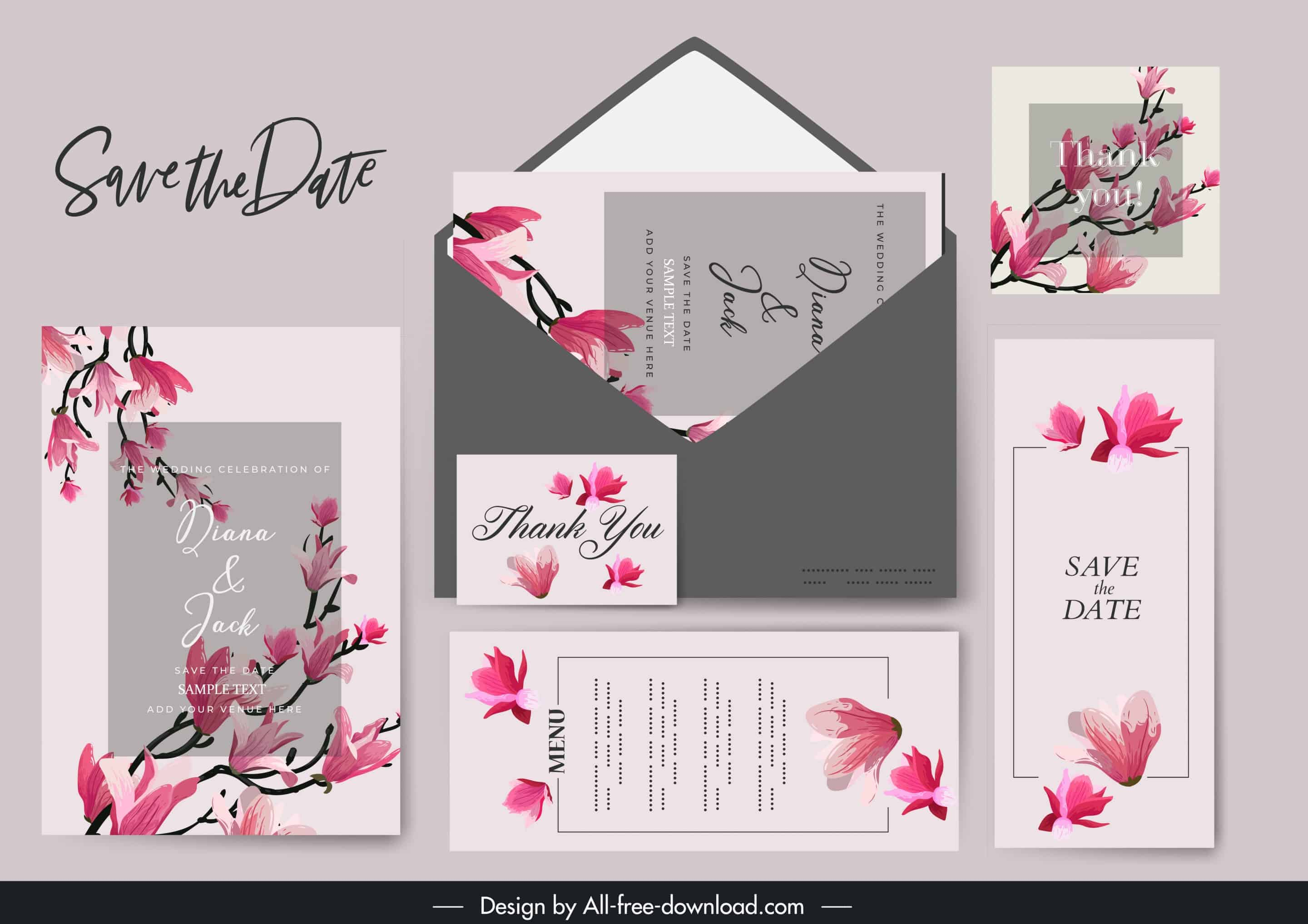 Blooming Sakura - Wedding Invitation