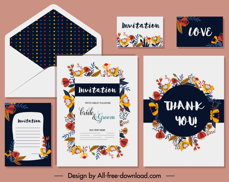 Contrast Flora - Wedding Invitations