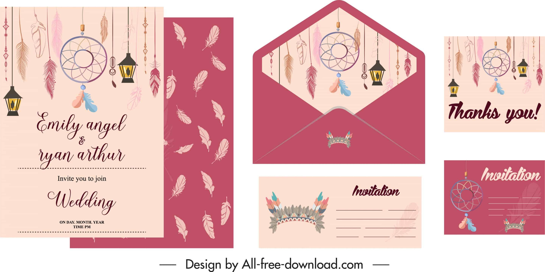 Boho Style - Wedding Invitation