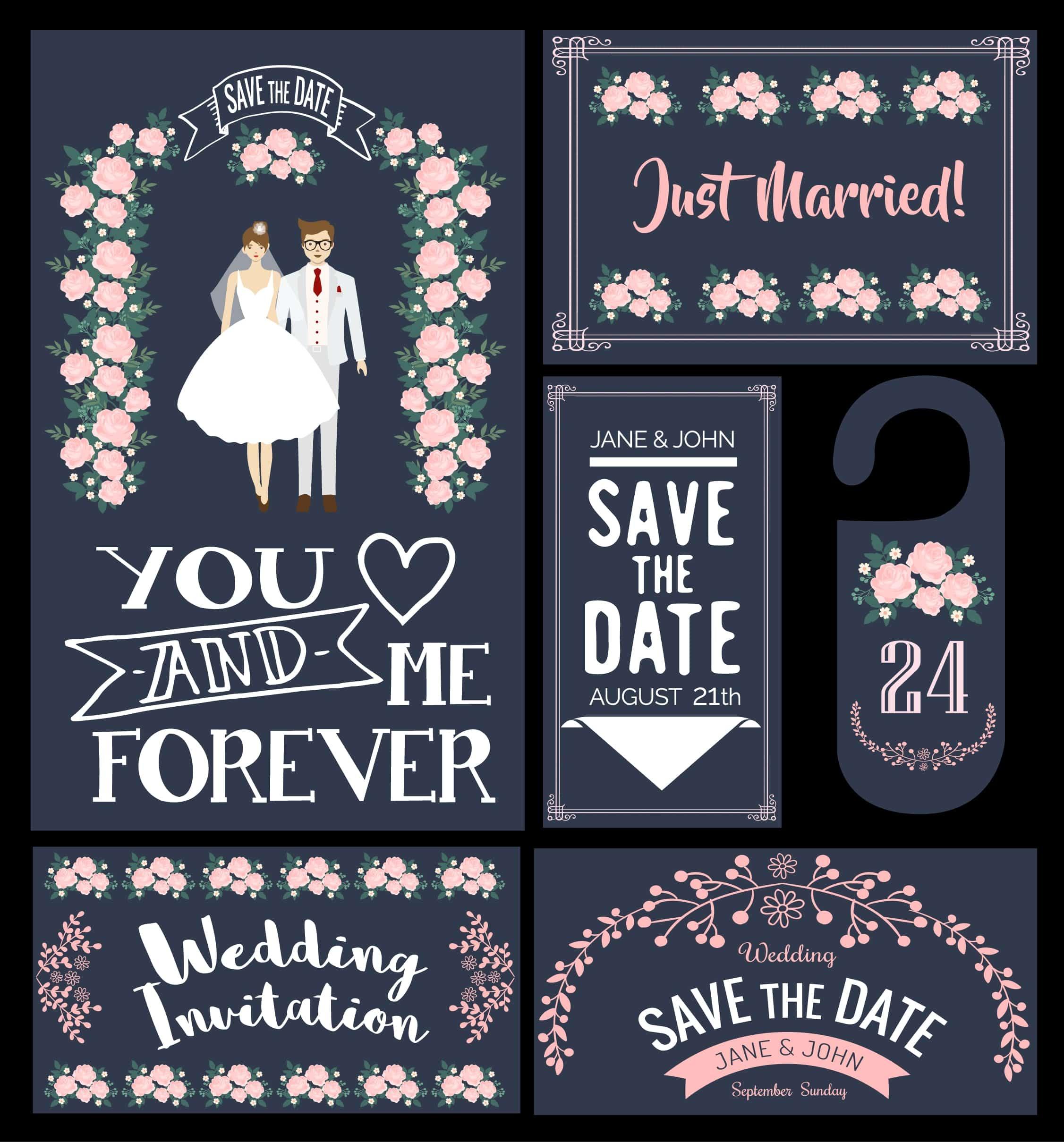 Flowers Couple - Wedding Invitation