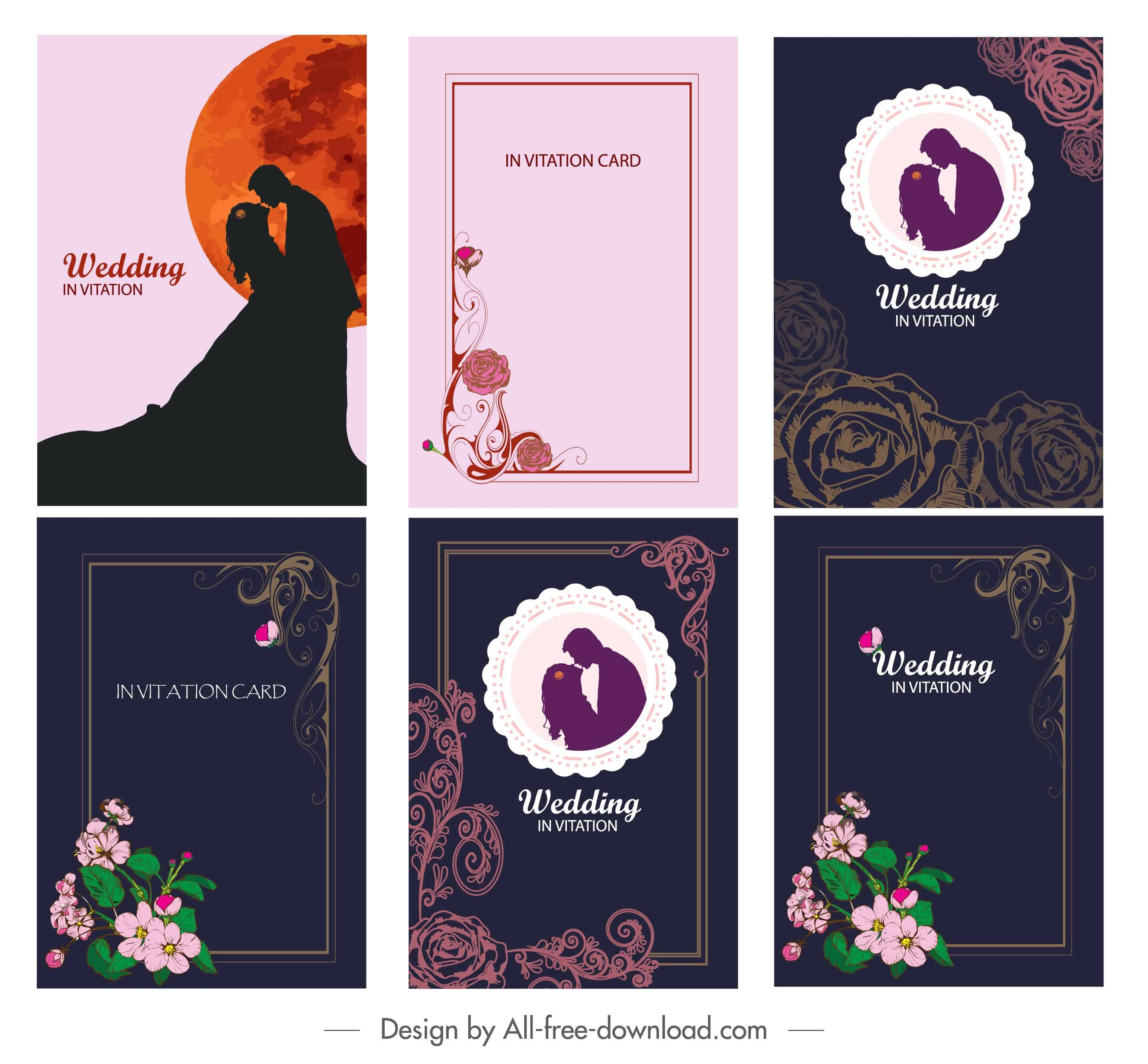 Flower Bride Set  - Wedding Invitation