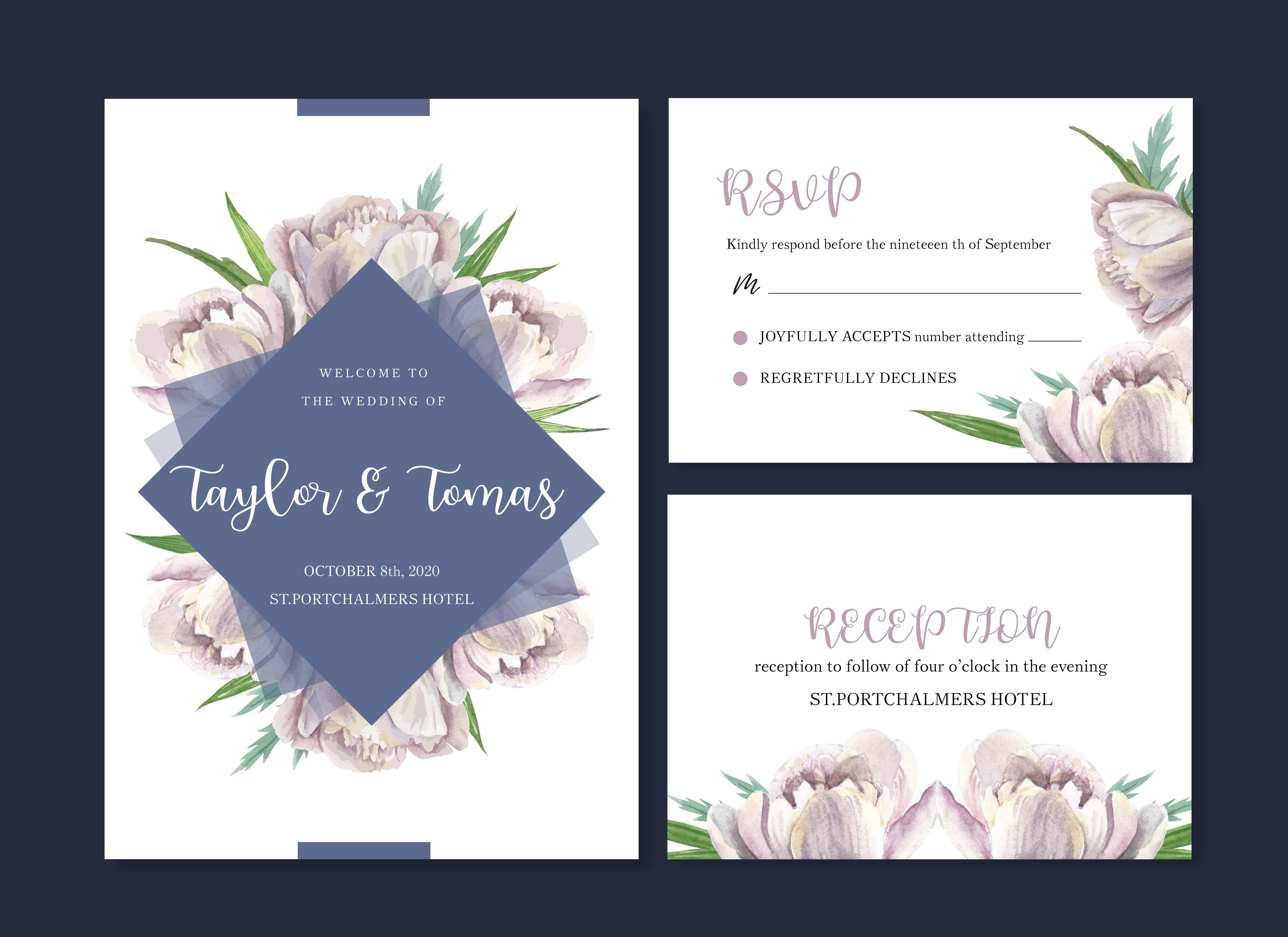Lovely Flowers - Wedding Invitation