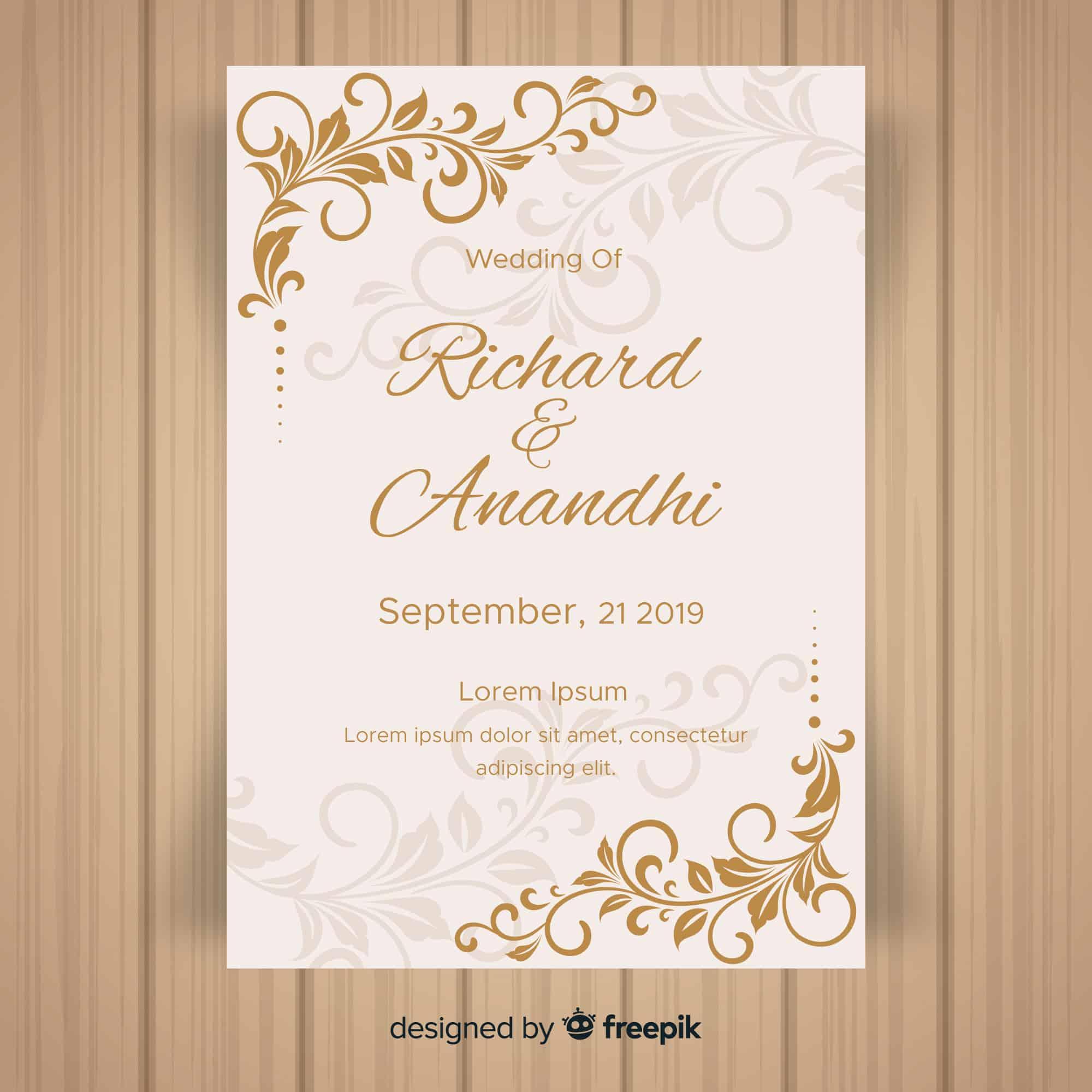 Classical Decor - Wedding Invitation