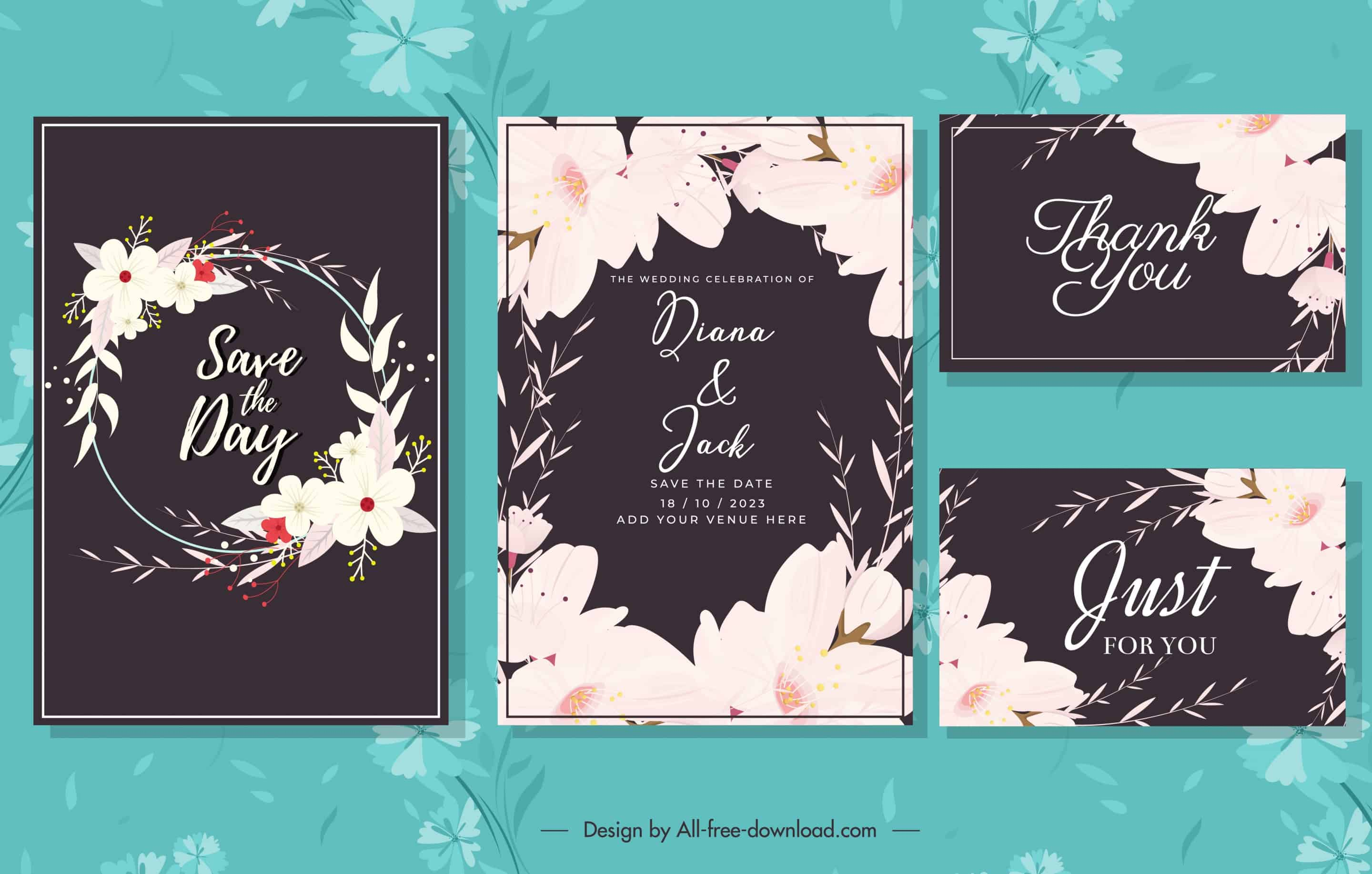 White Flora - Wedding Invitation