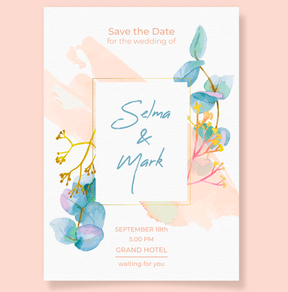 Pretty Floral - Wedding Invitation