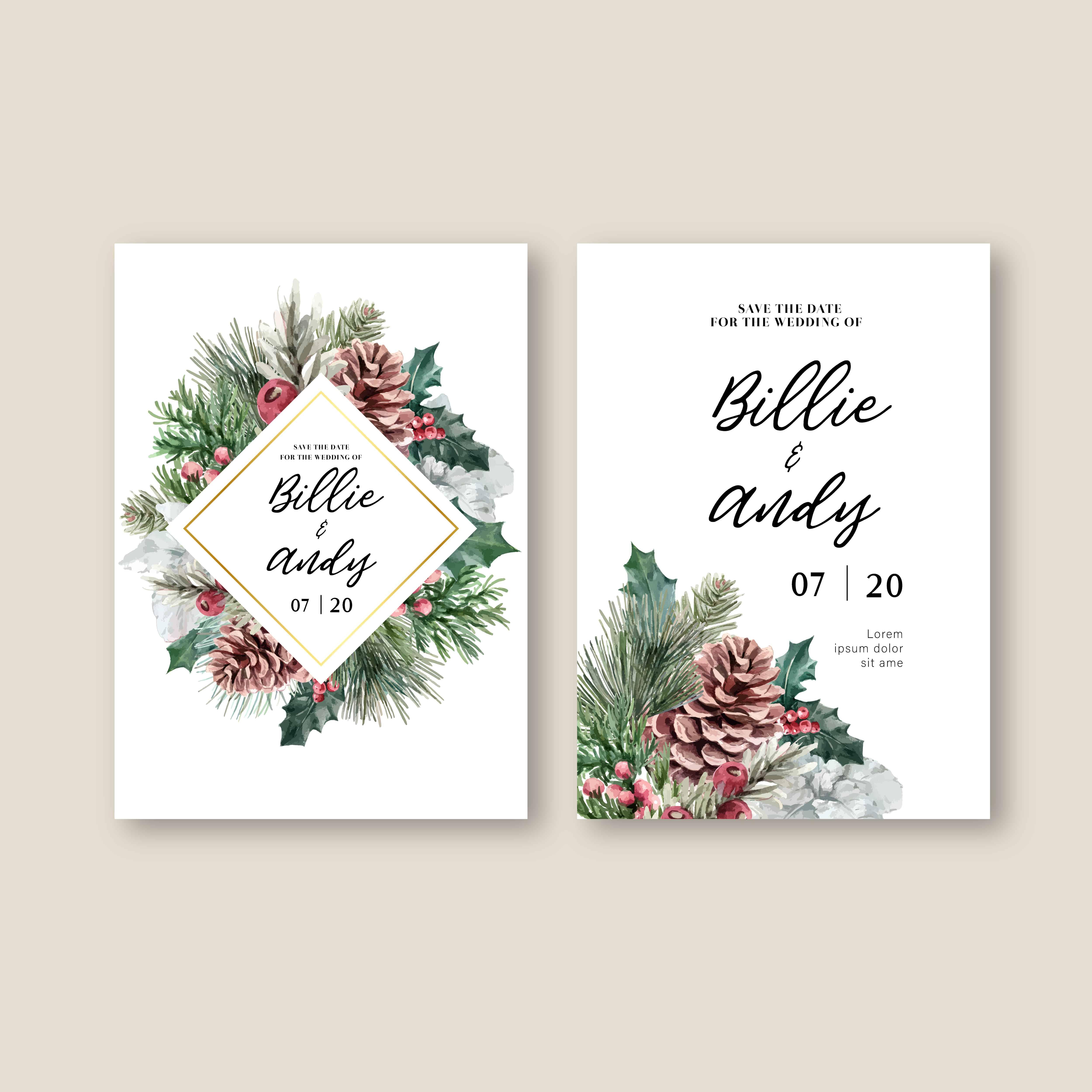 Snowy Winter - Wedding Invitation