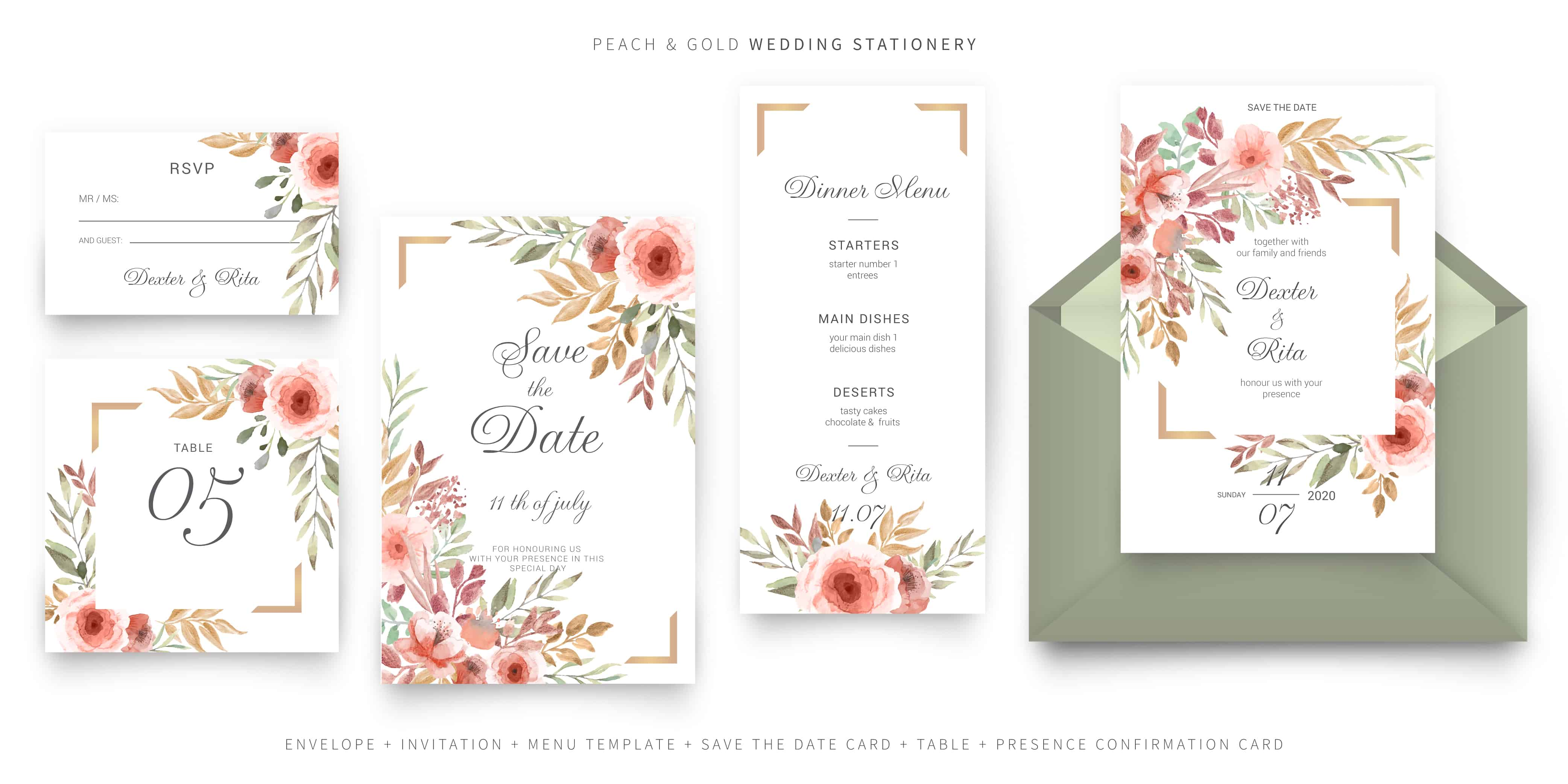 Pink Roses - Wedding Invitation
