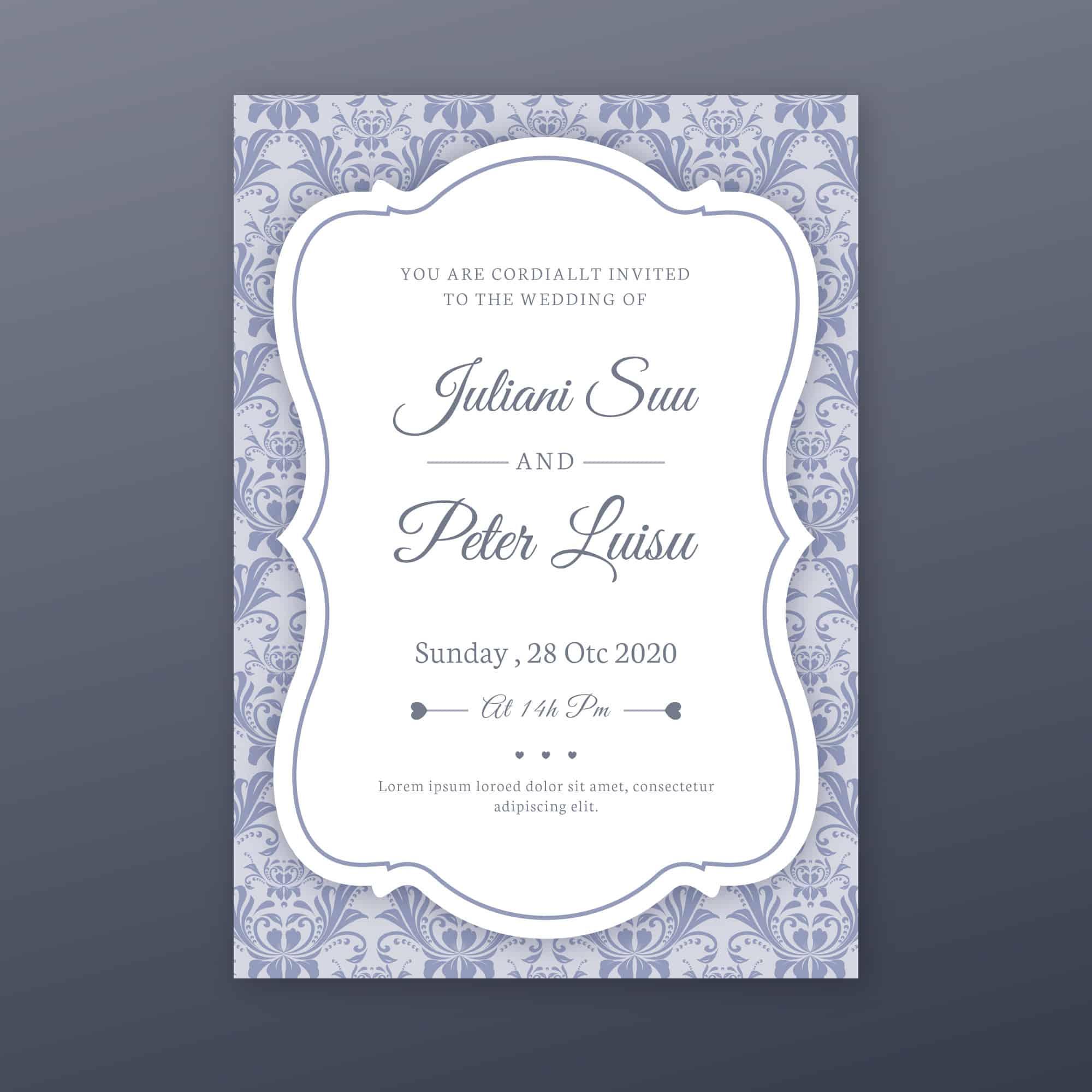 Dusty Blue - Wedding Invitations