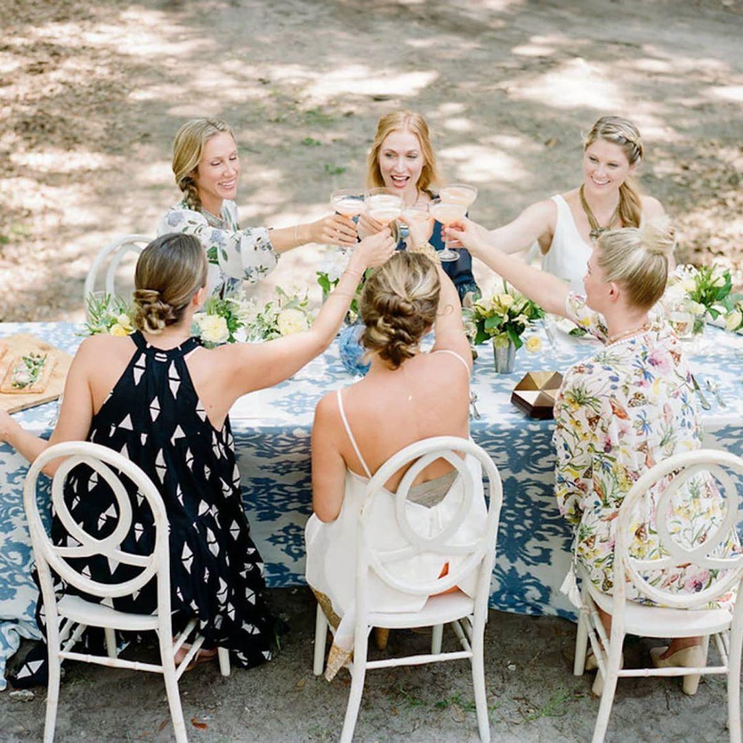 Bachelorette for pregnant bride